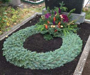 Beispiel für Grabpflege