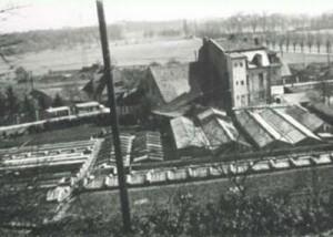 Gärtnerei Wenzel / historisches Bild von oben